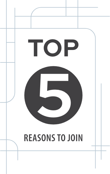 Top 5 Reasons to Join