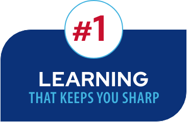 #1 Learning that Keeps you sharp