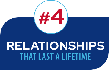 #4 Relationships that last a lifetime